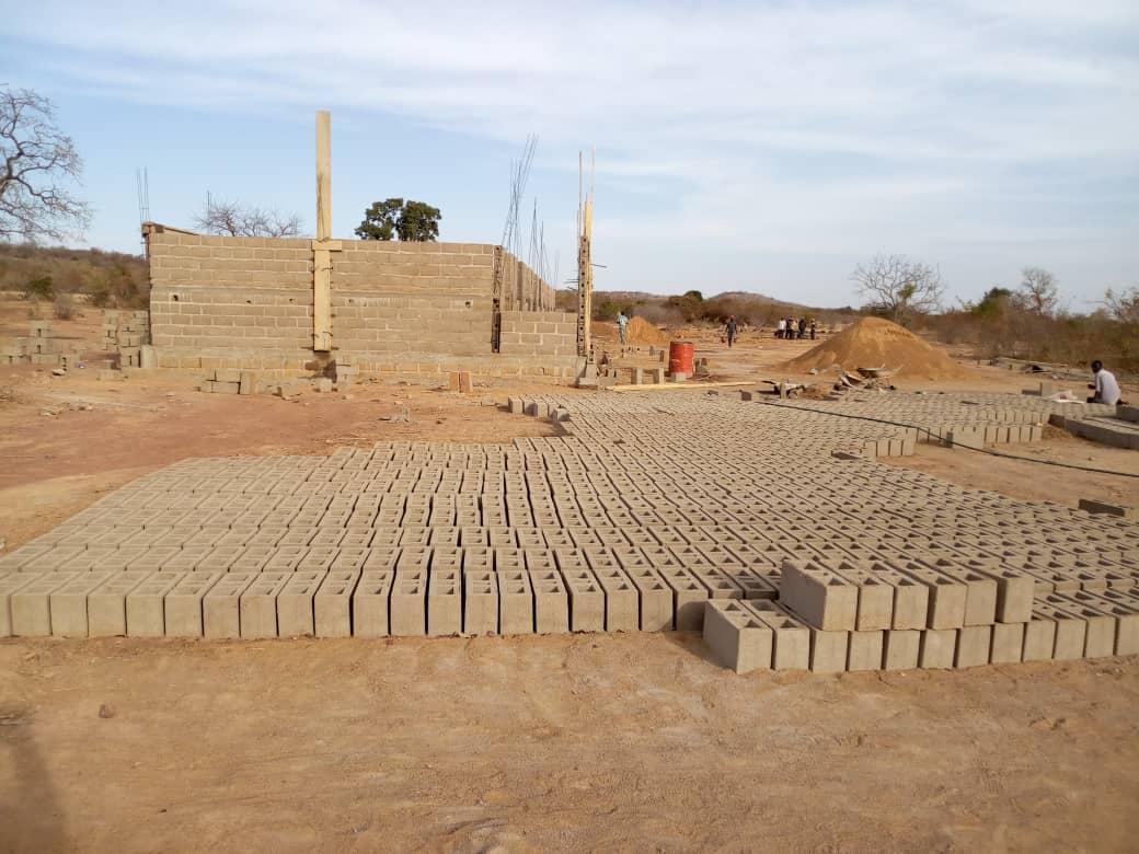 Baugebinn der Primarschule in Sirimou/Mali.
